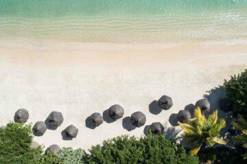 LUX Grand Baie Mauritius drone shot