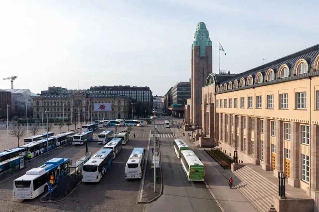 Exterior of Scandic Grand Central Helsinki, Helsinki, Finland