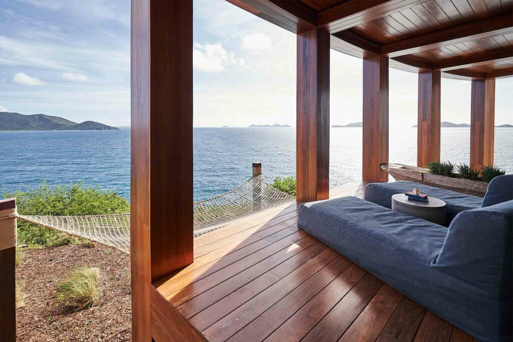 Relaxation area at The Aerial BVI, British Virgin Islands
