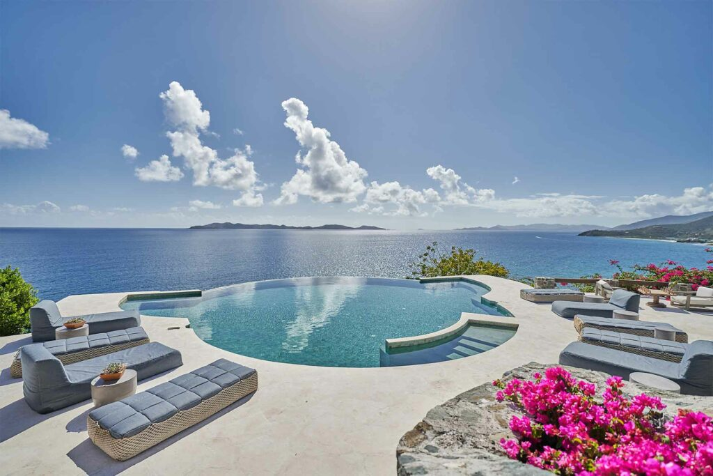Pool with a view at The Aerial BVI, British Virgin Islands