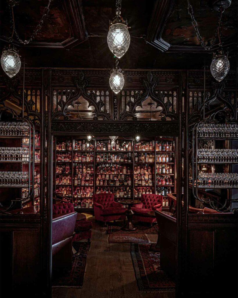 Bernie's whisky bar in Braemar, Scotland