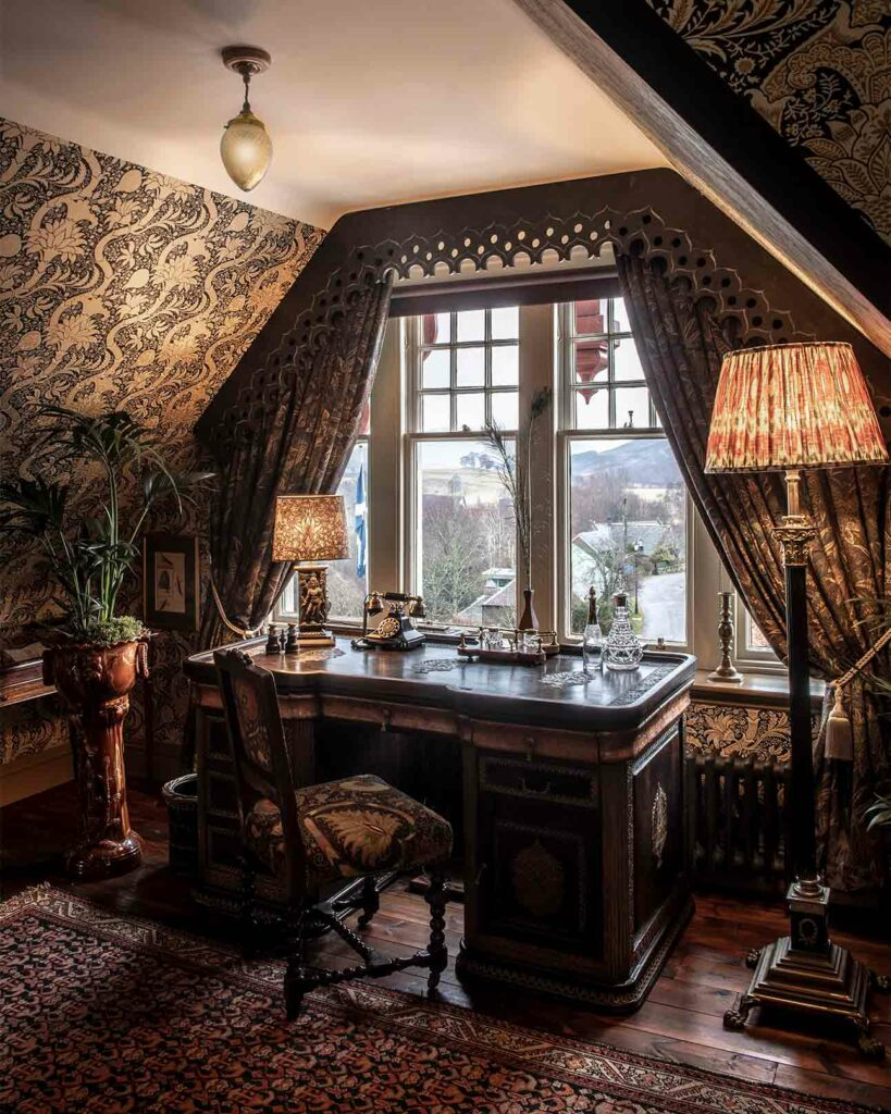 Suite detail at The Fife Arms, Braemar, Scotland