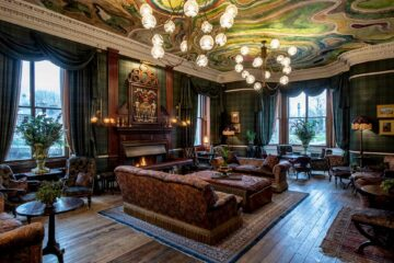 The reading room at The Fife Arms, Braemar, Scotland