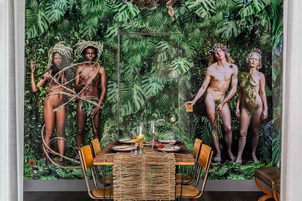 The Mandrake artist cabanas: interior of Irish Bosch cabana