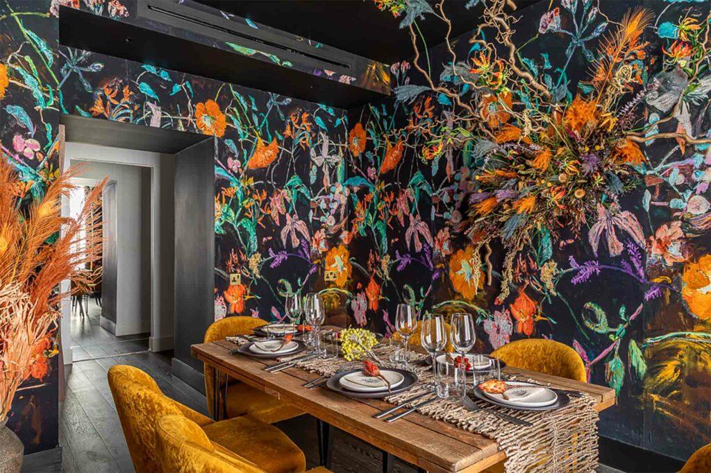 Interior of Pookie Blezard cabana at The Mandrake, London