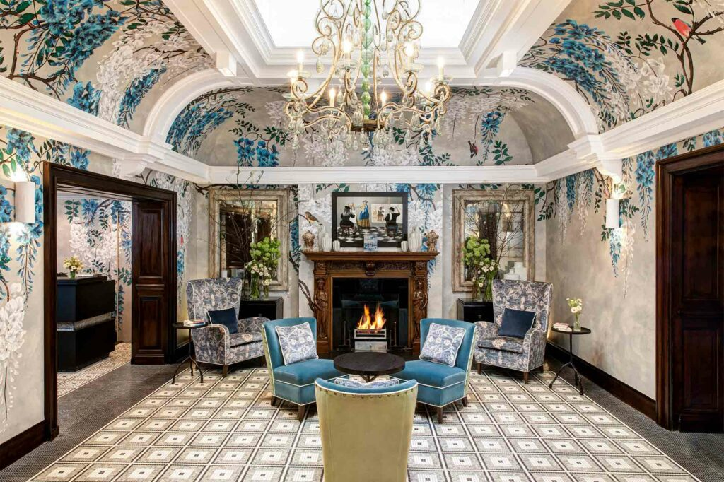 Lobby at Brown's Hotel, London, United Kingdom