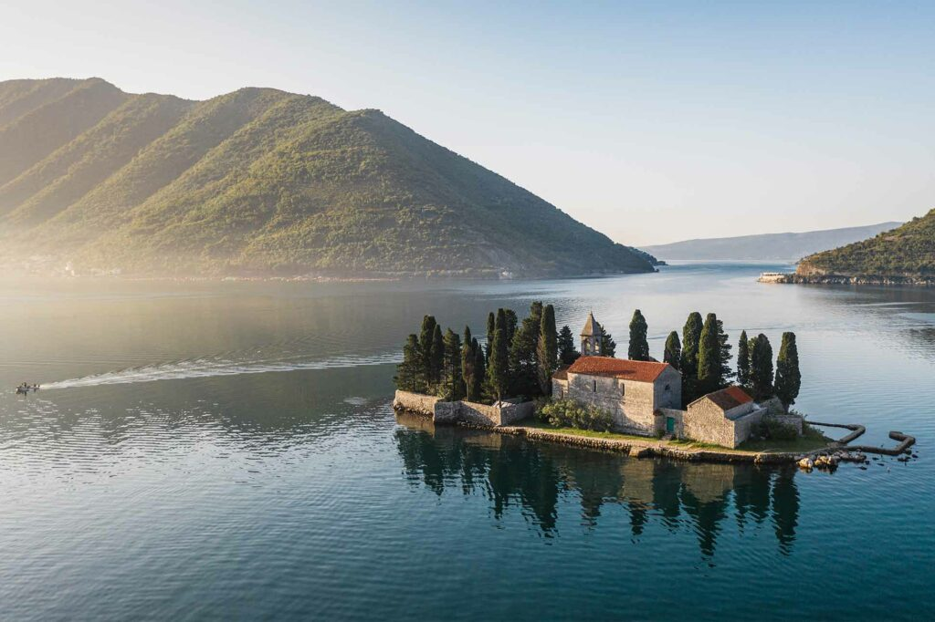 View over the Bay of Kotor, Montenegro