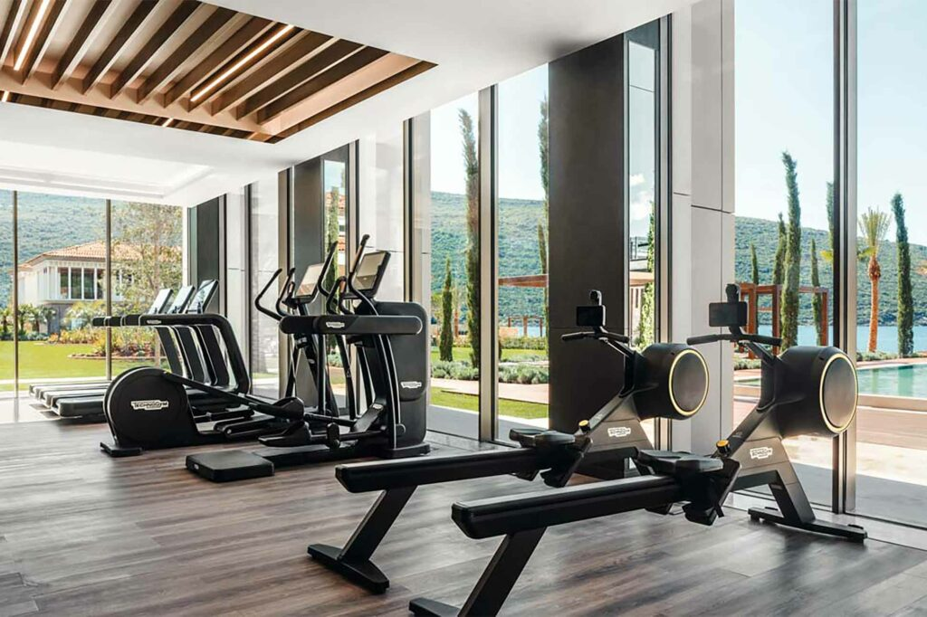 Workout equipment available at the One&Only Portonovi, Montenegro
