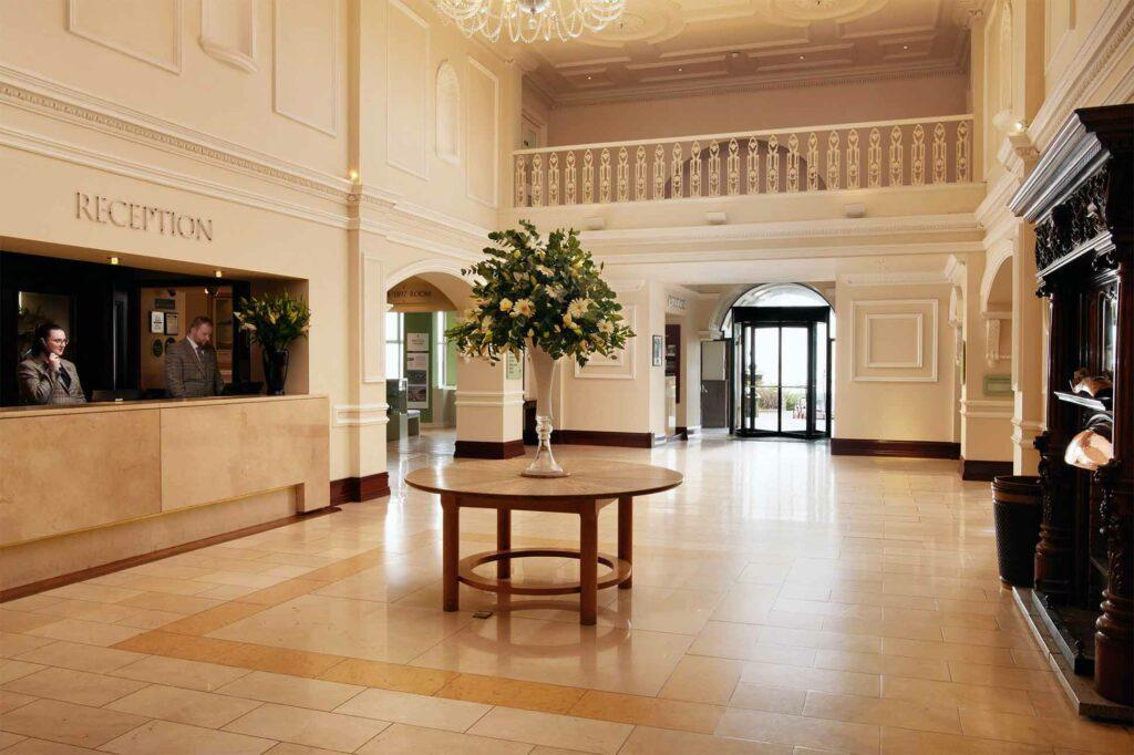Lobby at the Slieve Donard Resort & Spa, Newcastle, Northern Ireland, United Kingdom