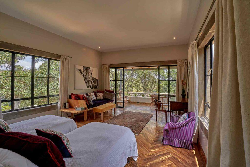 Waridi Room at The Retreat at Giraffe Manor, The Safari Collection
