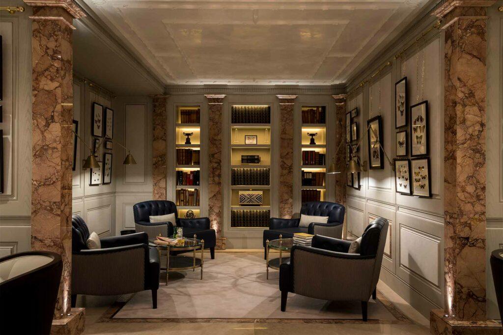 Members' lounge at The Lanesborough Club & Spa, London, UK