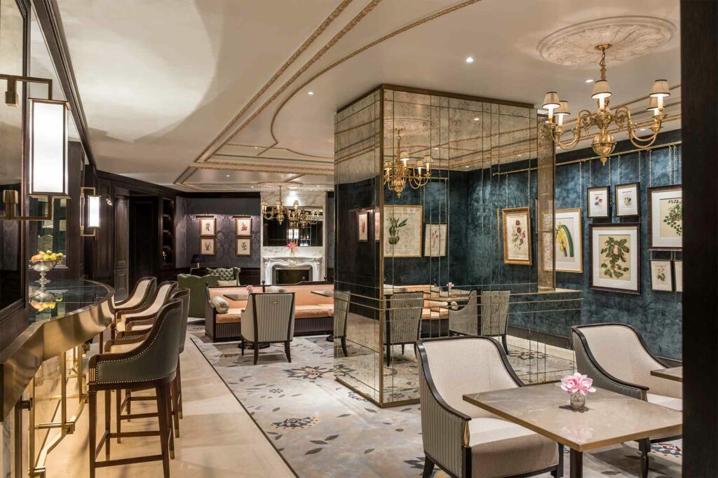 The spa restaurant at The Lanesborough Club & Spa, London, UK