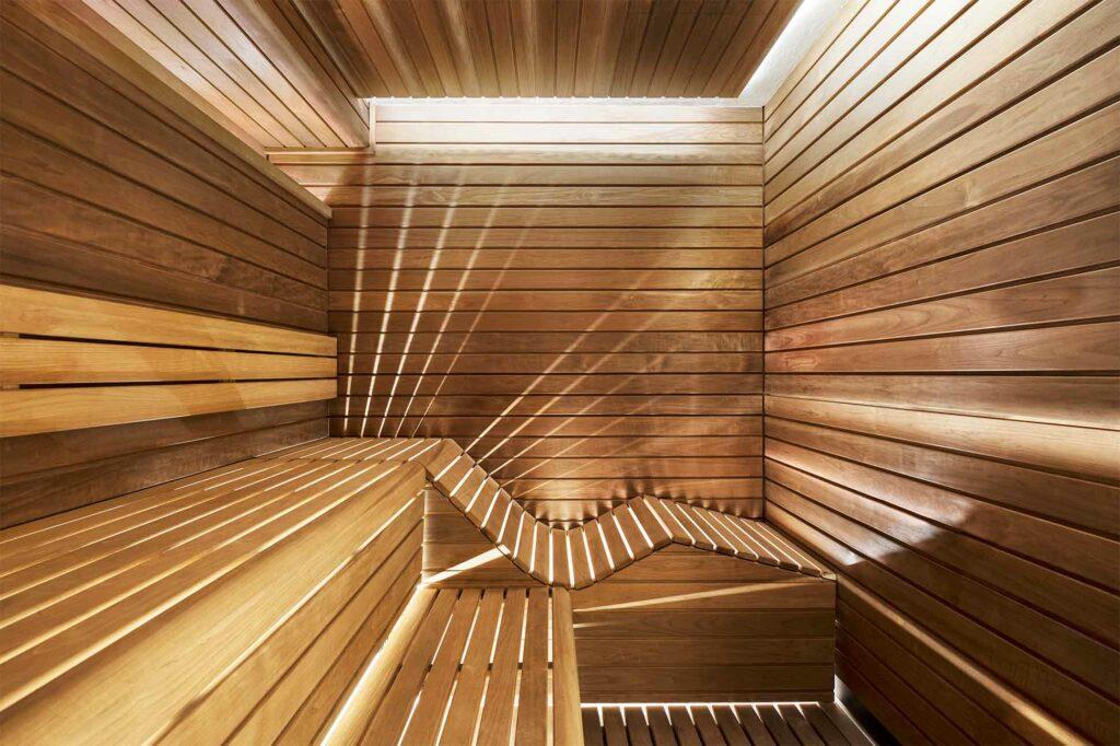A bio-sauna at The Lanesborough Club & Spa, London, UK