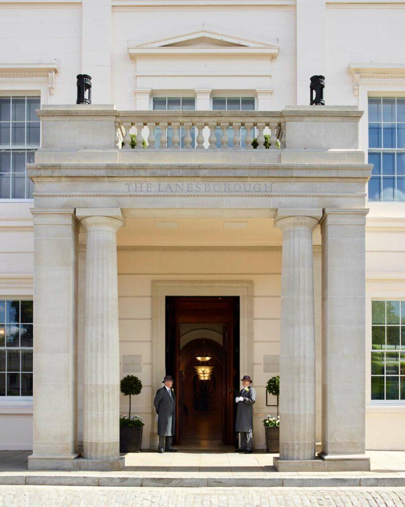 Entrance of The Lanesborough, London, United Kingdom