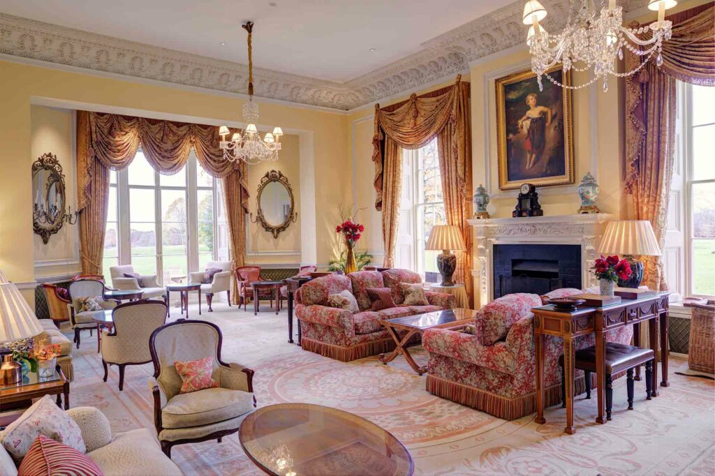 The Drawing Room at Lucknam Park, Wiltshire, United Kingdom
