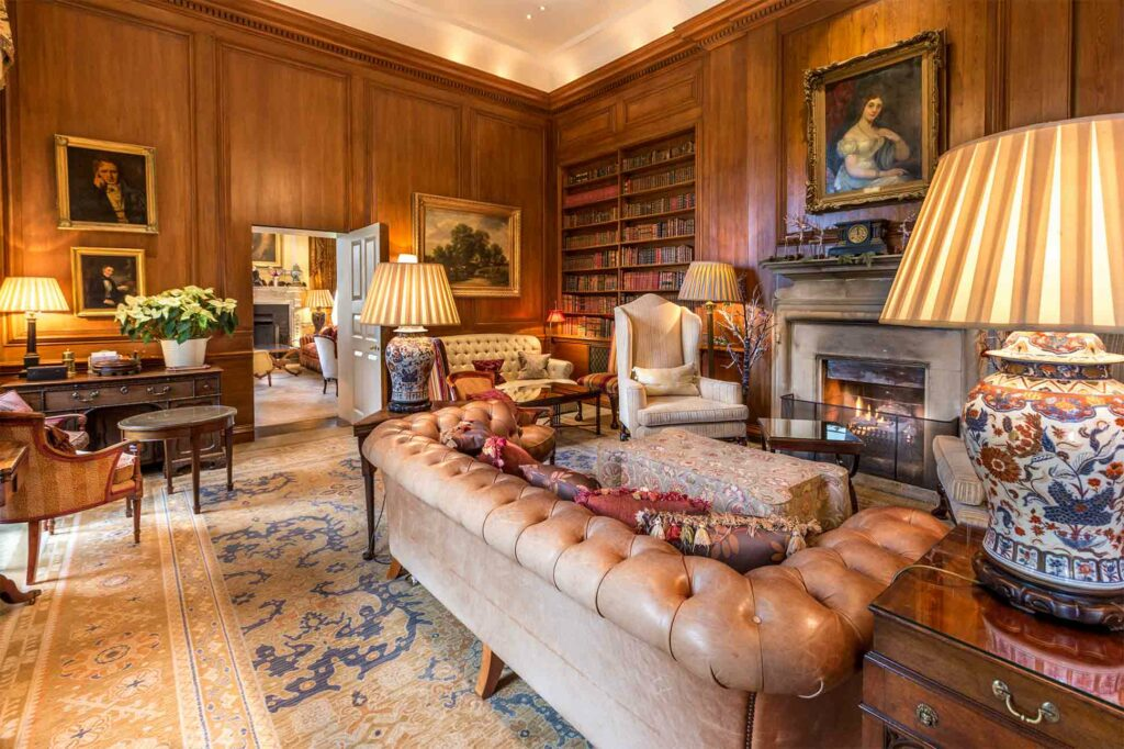 The Library at Lucknam Park, Wiltshire, United Kingdom