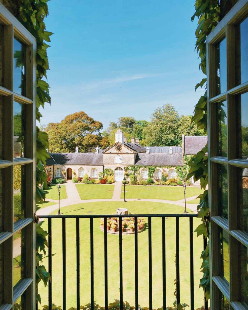 View over the courtyard in Wiltshire, United Kingdom
