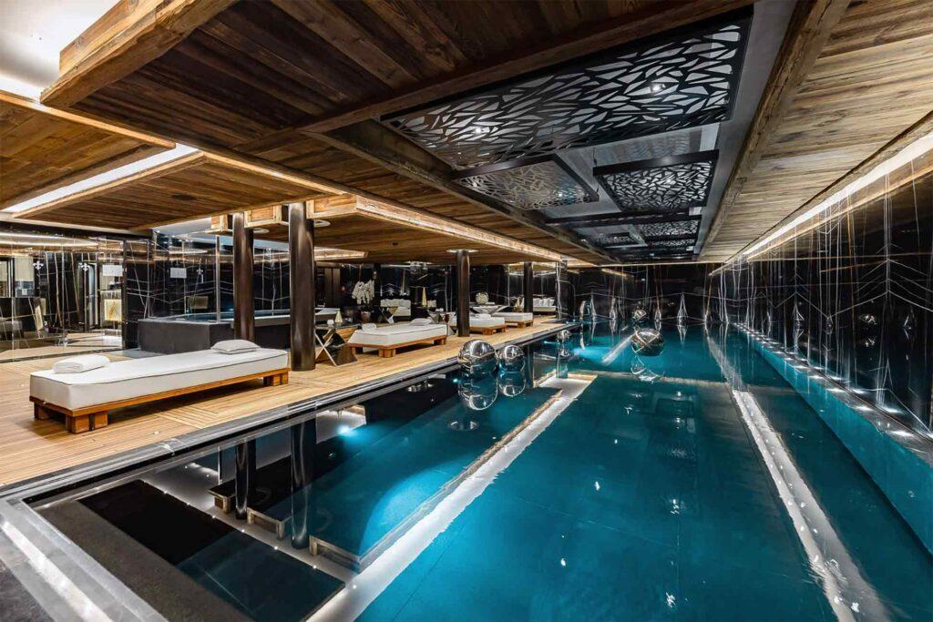 Indoor pool at Ultima Gstaad, Gstaad, Switzerland