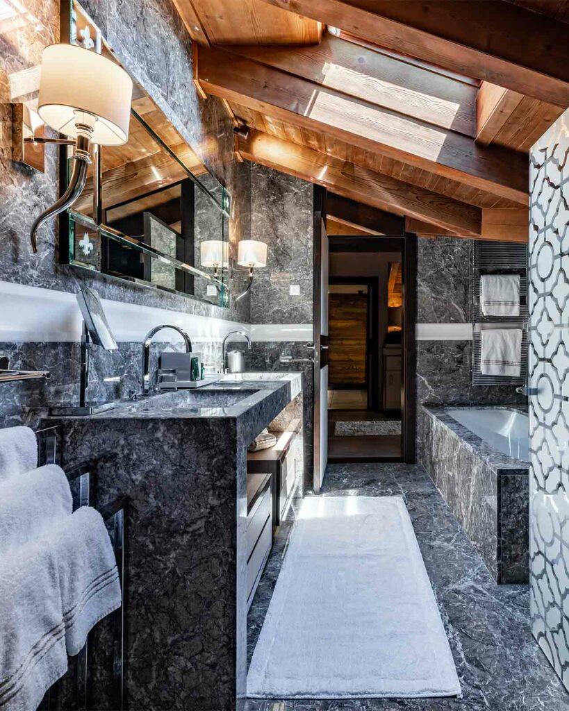 Bathroom at Ultima Gstaad, Gstaad, Switzerland